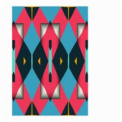 Triangles Stripes And Other Shapes                                                                                                         Small Garden Flag by LalyLauraFLM