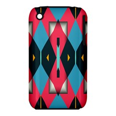Triangles Stripes And Other Shapes                                                                                                        			apple Iphone 3g/3gs Hardshell Case (pc+silicone) by LalyLauraFLM