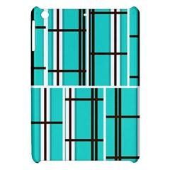 Black And White Stripes                                                                                                         apple Ipad Mini Hardshell Case by LalyLauraFLM