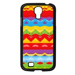 Colorful Waves                                                                                                          samsung Galaxy S4 I9500/ I9505 Case (black) by LalyLauraFLM