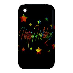 Happy holidays Apple iPhone 3G/3GS Hardshell Case (PC+Silicone) by Valentinaart