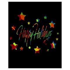 Happy Holidays Drawstring Bag (small) by Valentinaart