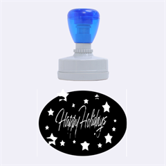 Happy Holidays 2  Rubber Oval Stamps by Valentinaart
