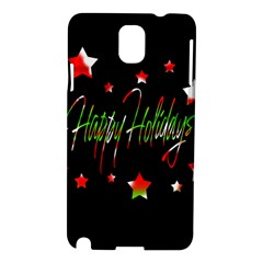 Happy Holidays 2  Samsung Galaxy Note 3 N9005 Hardshell Case by Valentinaart