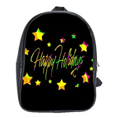 Happy Holidays 4 School Bags (xl)  by Valentinaart
