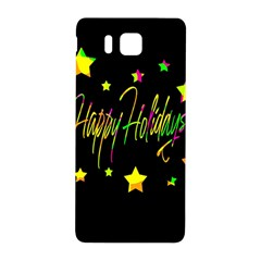 Happy Holidays 4 Samsung Galaxy Alpha Hardshell Back Case by Valentinaart
