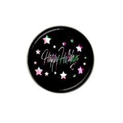 Happy Holidays 5 Hat Clip Ball Marker (10 Pack) by Valentinaart