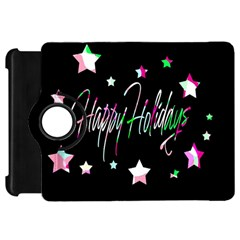 Happy Holidays 5 Kindle Fire Hd Flip 360 Case by Valentinaart