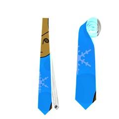 Xmas Giraffe   Blue Neckties (two Side)  by Valentinaart