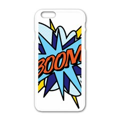 Comic Book Boom! Apple Iphone 6/6s White Enamel Case by ComicBookPOP