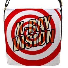 Comic Book X Ray Vision Red Spiral Flap Messenger Bag (S) by ComicBookPOP