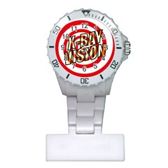 Comic Book X Ray Vision Red Spiral Plastic Nurses Watch by ComicBookPOP