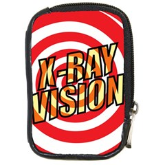 Comic Book X Ray Vision Red Compact Camera Cases by ComicBookPOP