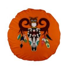 The Owl Designed For Kid s  Standard 15  Premium Flano Round Cushions by GabriellaDavid