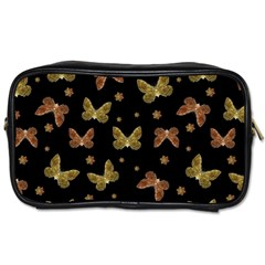 Insects Motif Pattern Toiletries Bags by dflcprints