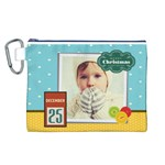 xmas - Canvas Cosmetic Bag (Large)