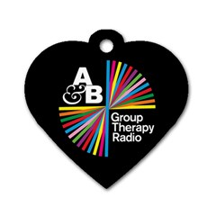 Above & Beyond  Group Therapy Radio Dog Tag Heart (two Sides) by Onesevenart