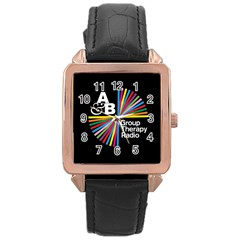 Above & Beyond  Group Therapy Radio Rose Gold Leather Watch  by Onesevenart