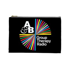 Above & Beyond  Group Therapy Radio Cosmetic Bag (large)  by Onesevenart
