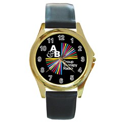 Above & Beyond  Group Therapy Radio Round Gold Metal Watch by Onesevenart