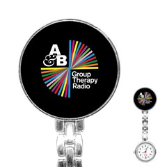 Above & Beyond  Group Therapy Radio Stainless Steel Nurses Watch by Onesevenart