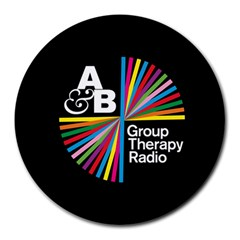Above & Beyond  Group Therapy Radio Round Mousepads by Onesevenart