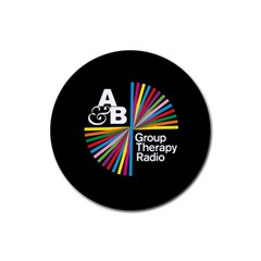 Above & Beyond  Group Therapy Radio Rubber Coaster (round)  by Onesevenart