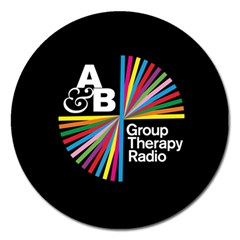Above & Beyond  Group Therapy Radio Magnet 5  (round) by Onesevenart