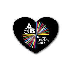 Above & Beyond  Group Therapy Radio Rubber Coaster (heart)  by Onesevenart