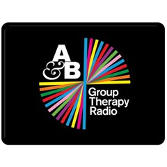 Above & Beyond  Group Therapy Radio Fleece Blanket (large)  by Onesevenart