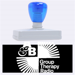 Above & Beyond  Group Therapy Radio Rubber Address Stamps (xl) by Onesevenart