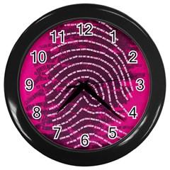 Above & Beyond Sticky Fingers Wall Clocks (black) by Onesevenart