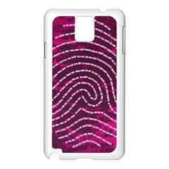 Above & Beyond Sticky Fingers Samsung Galaxy Note 3 N9005 Case (white) by Onesevenart