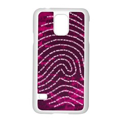 Above & Beyond Sticky Fingers Samsung Galaxy S5 Case (white) by Onesevenart