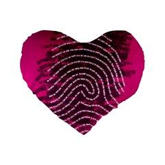 Above & Beyond Sticky Fingers Standard 16  Premium Flano Heart Shape Cushions by Onesevenart