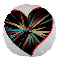 Above & Beyond Large 18  Premium Flano Round Cushions by Onesevenart