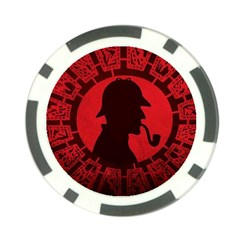 Book Cover For Sherlock Holmes And The Servants Of Hell Poker Chip Card Guards by Onesevenart