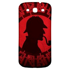 Book Cover For Sherlock Holmes And The Servants Of Hell Samsung Galaxy S3 S Iii Classic Hardshell Back Case by Onesevenart