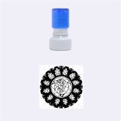 Cathedral Rosette Stained Glass Beauty And The Beast Rubber Round Stamps (small) by Onesevenart
