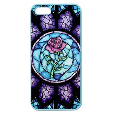 Cathedral Rosette Stained Glass Beauty And The Beast Apple Seamless Iphone 5 Case (color) by Onesevenart