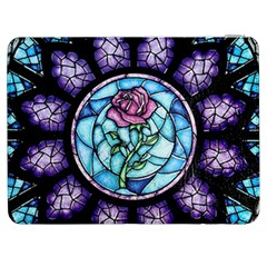 Cathedral Rosette Stained Glass Beauty And The Beast Samsung Galaxy Tab 7  P1000 Flip Case by Onesevenart