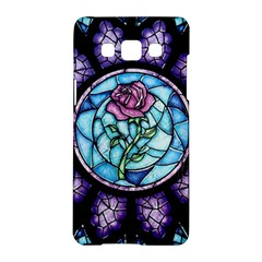 Cathedral Rosette Stained Glass Beauty And The Beast Samsung Galaxy A5 Hardshell Case  by Onesevenart