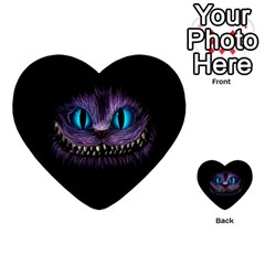 Cheshire Cat Animation Multi Purpose Cards (heart)  by Onesevenart