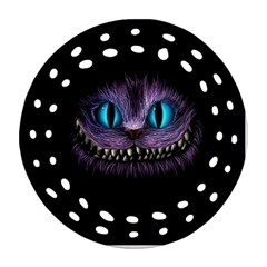 Cheshire Cat Animation Round Filigree Ornament (2Side) by Onesevenart