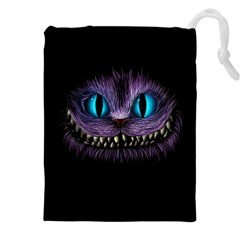 Cheshire Cat Animation Drawstring Pouches (XXL) by Onesevenart