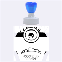 Evil Purple Rubber Round Stamps (large) by Onesevenart