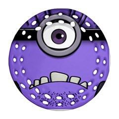 Evil Purple Round Filigree Ornament (2side) by Onesevenart