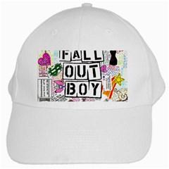 Fall Out Boy Lyric Art White Cap by Onesevenart