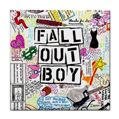 Fall Out Boy Lyric Art Tile Coasters by Onesevenart