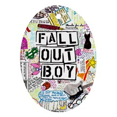 Fall Out Boy Lyric Art Oval Ornament (two Sides) by Onesevenart